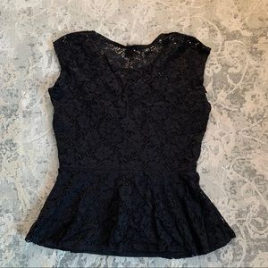 Guess Tops - Black Lace peplum top